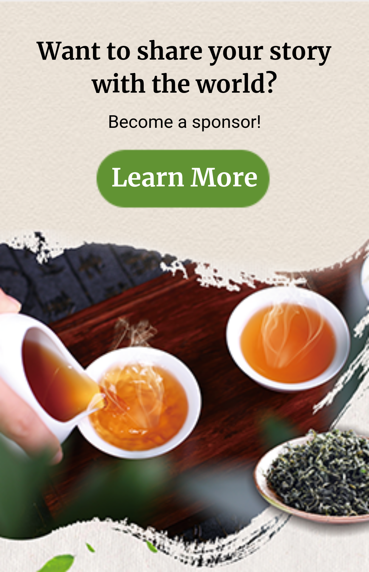 become a Stories About Tea sponsor